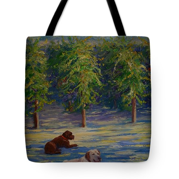 Tote Bag featuring the painting Shady Friends by Dorothy Allston Rogers