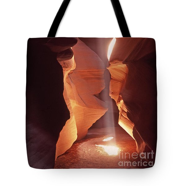 Shaft Of Light Antelope Canyon Tote Bag