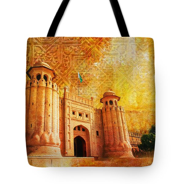 Shahi Qilla Or Royal Fort Tote Bag by Catf