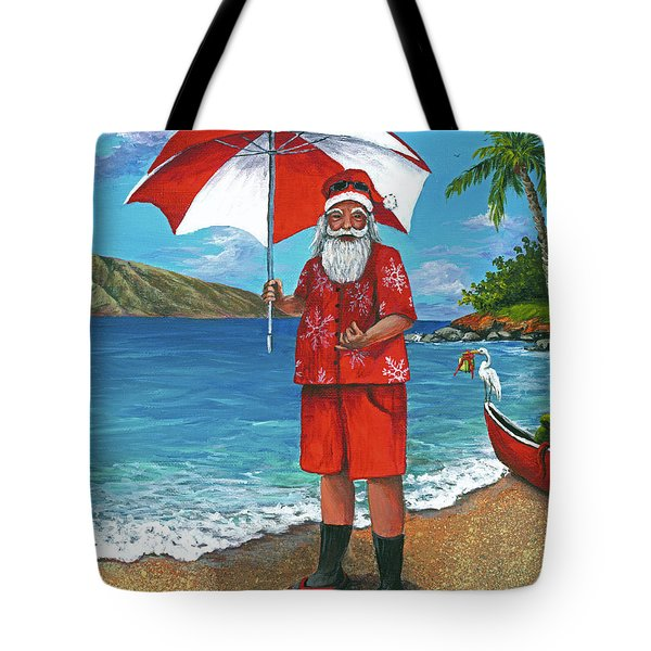 Tote Bag featuring the painting Shaka Santa by Darice Machel McGuire
