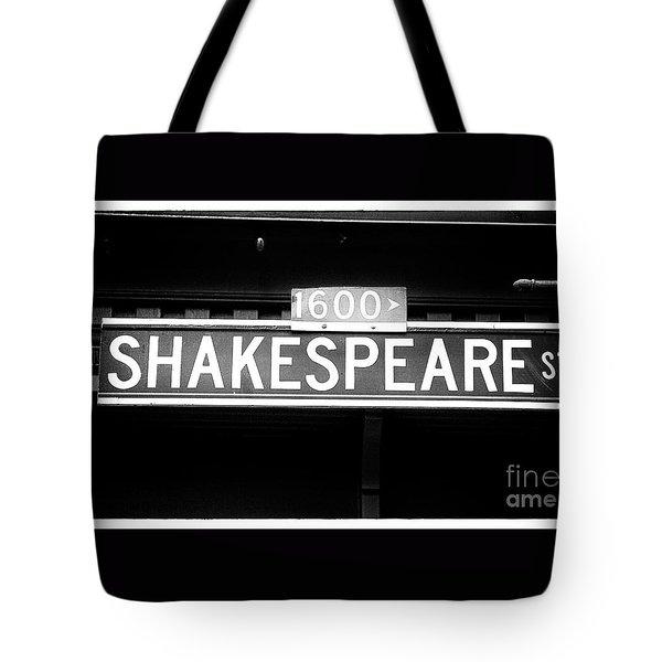 Shakespeare Street Tote Bag