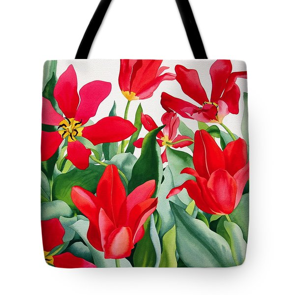 Shakespeare Tulips Tote Bag by Christopher Ryland