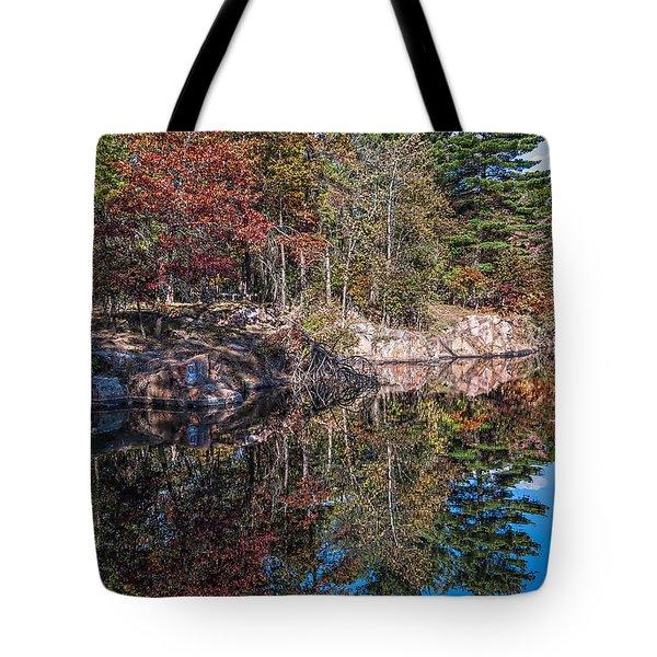 Shambeau Park Fall Reflection Tote Bag