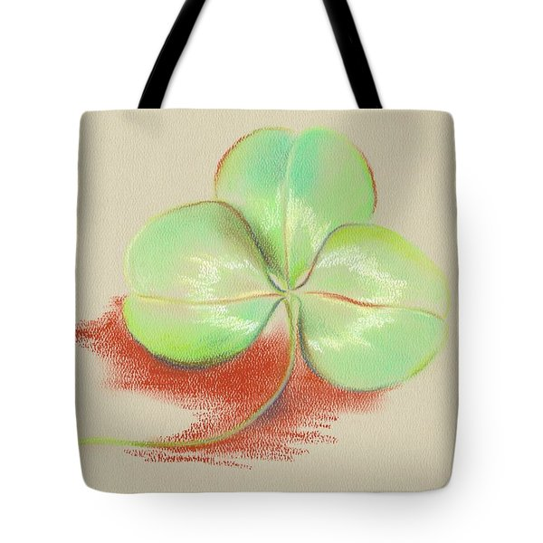 Tote Bag featuring the pastel Shamrock Clover by MM Anderson