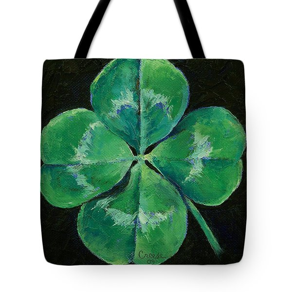 Shamrock Tote Bag by Michael Creese