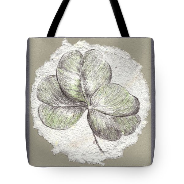 Shamrock On Handmade Paper Tote Bag