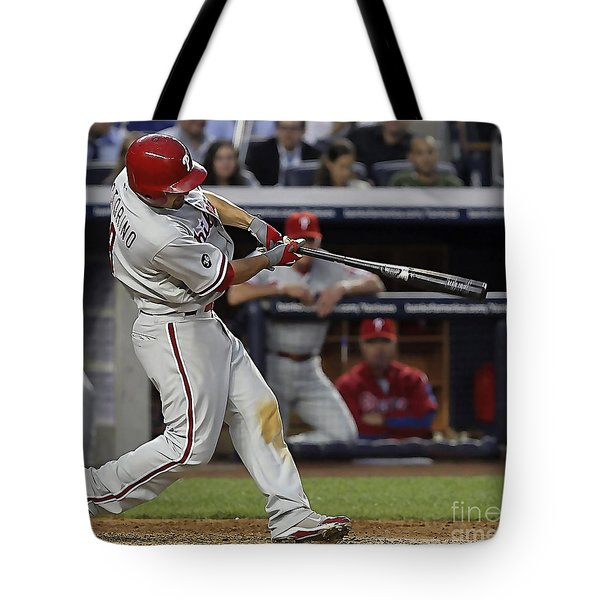 Shane Victorino Tote Bag by Marvin Blaine