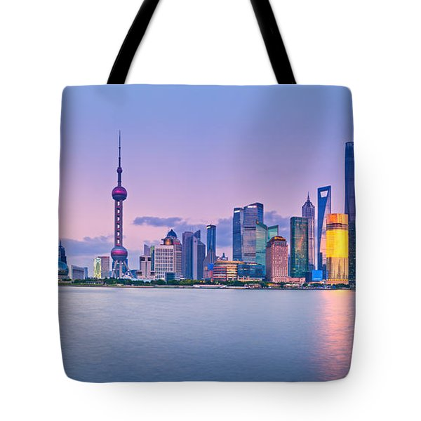 Shanghai Pudong Skyline  Tote Bag