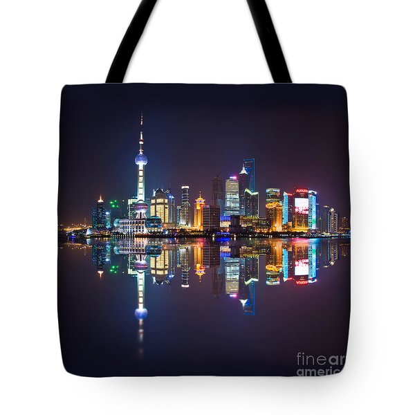 Shanghai Reflections Tote Bag