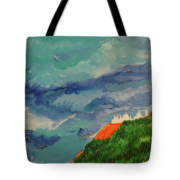 Tote Bag featuring the painting Shangri-la by First Star Art