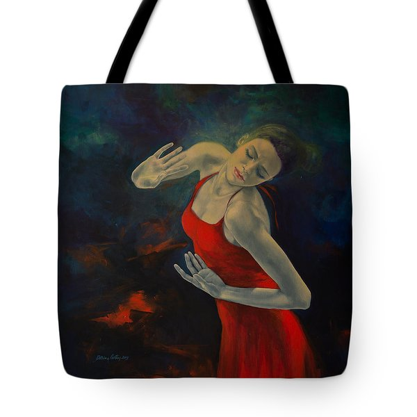Shape Of My Heart... Tote Bag by Dorina  Costras