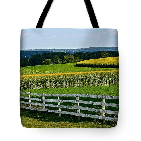 Shapely Cornfield 2 Tote Bag