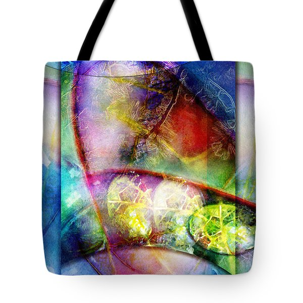 Tote Bag featuring the painting Shapes In Color by Allison Ashton