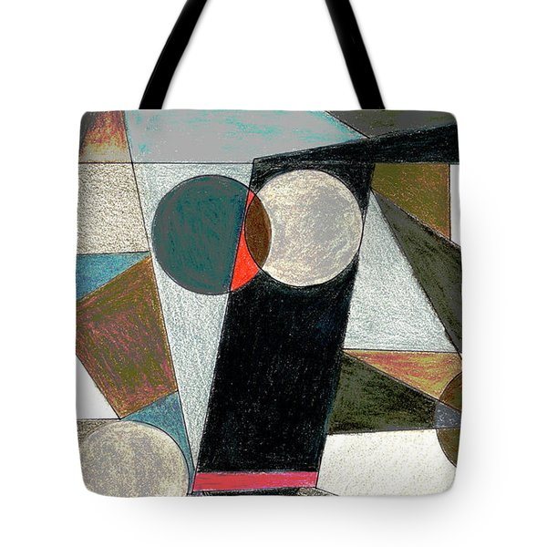 Tote Bag featuring the drawing Shapes by Mary Bedy