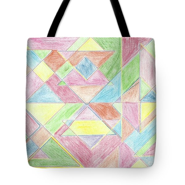 Shapes Of Colour Tote Bag by Tracey Williams
