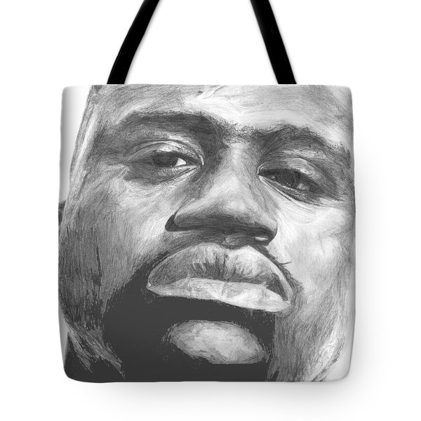 Tote Bag featuring the drawing Shaq by Tamir Barkan