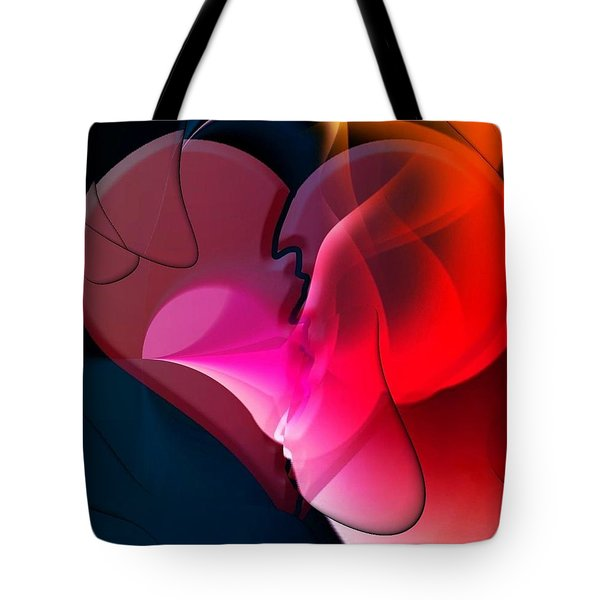 Tote Bag featuring the digital art Share Your Heart By Nico Bielow by Nico Bielow