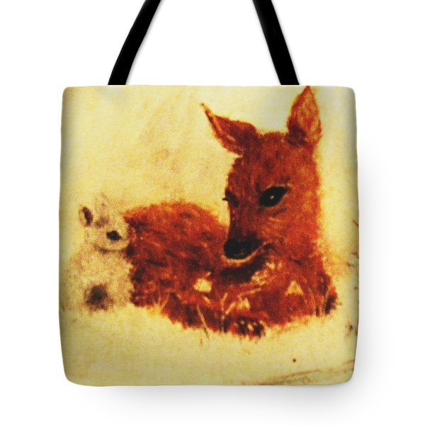 Tote Bag featuring the painting Sharing Secrets by Hazel Holland