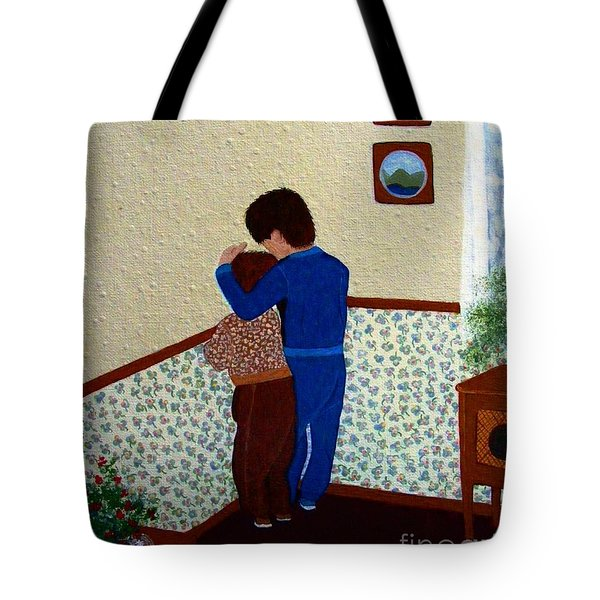 Sharing The Punishment Tote Bag by Barbara Griffin