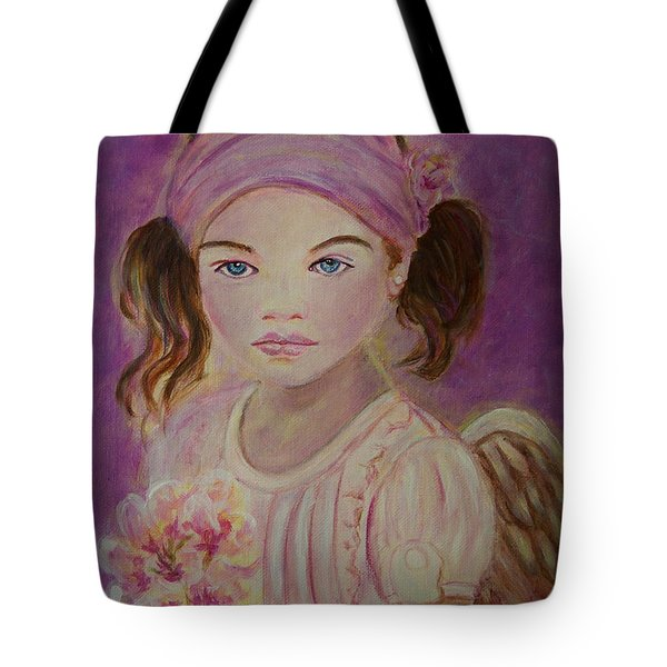 Sharissa Little Angel Of New Beginnings Tote Bag by The Art With A Heart By Charlotte Phillips