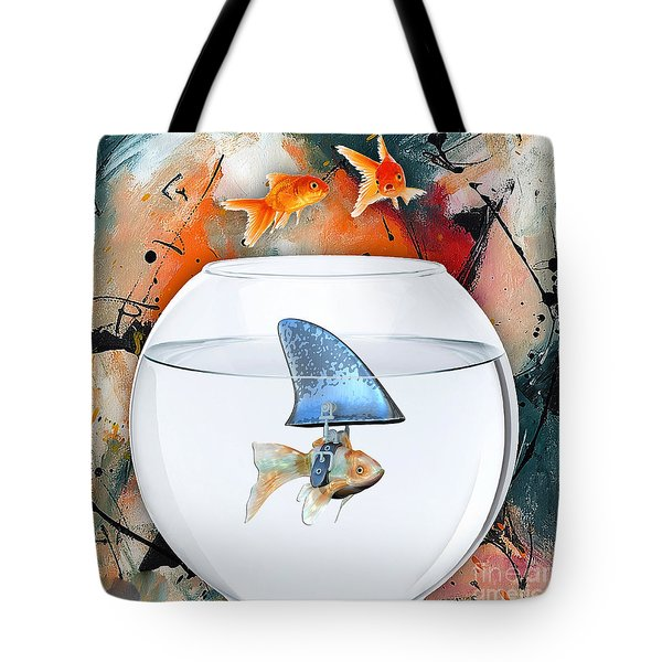 Shark Tote Bag by Marvin Blaine