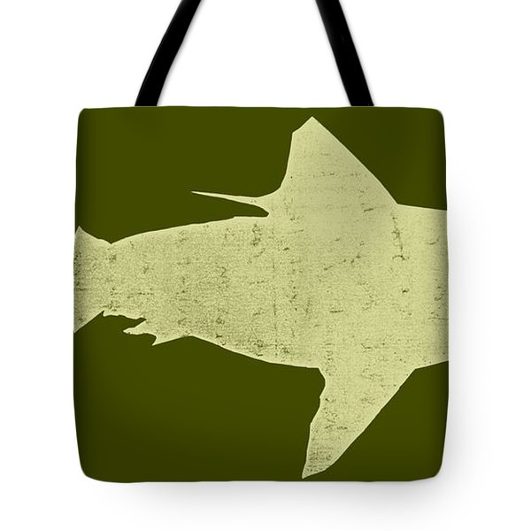 Shark Tote Bag by Michelle Calkins