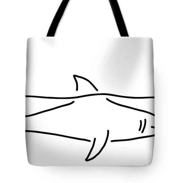 Shark Shark Fish Fin Sea Tote Bag by Lineamentum