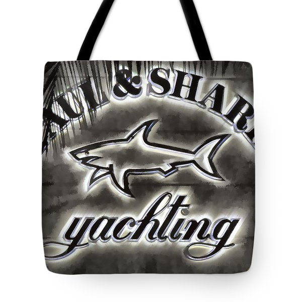 Shark Sign Tote Bag by Chuck Staley