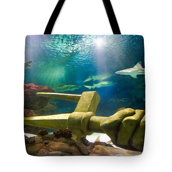 Shark Tank Trident Tote Bag by Bill Pevlor