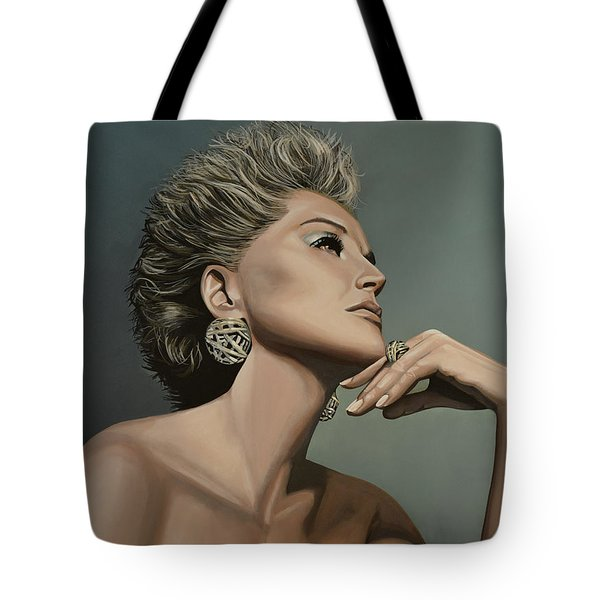 Sharon Stone Tote Bag by Paul Meijering