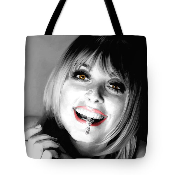Sharon Tate Large Size Portrait Tote Bag