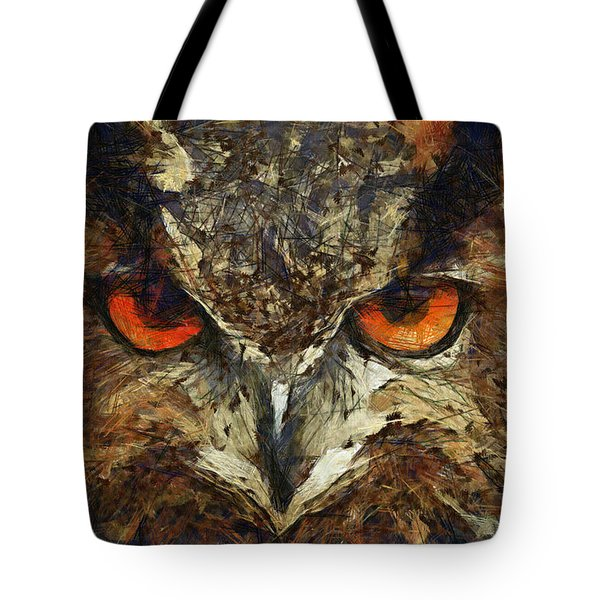 Sharpie Owl Tote Bag