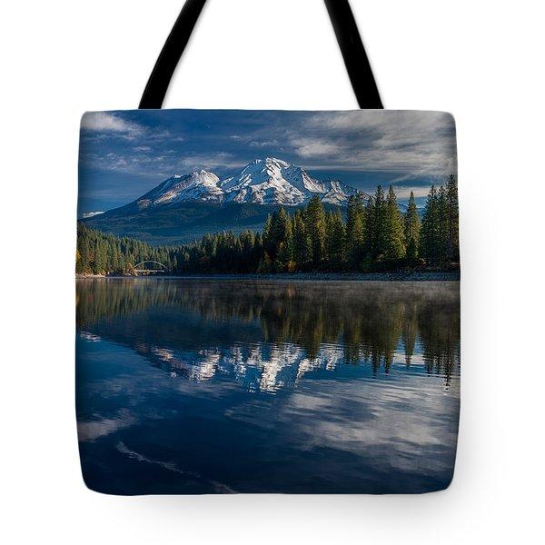 Shasta And Lake Siskiyou Tote Bag