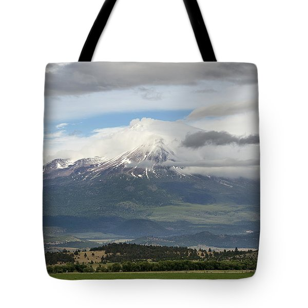 Shasta W Clouds Tote Bag