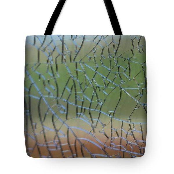 Tote Bag featuring the photograph Shattered by Amber Kresge