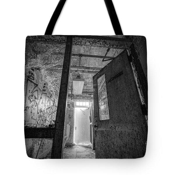 Shattered Bw Tote Bag