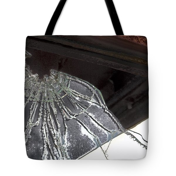 Tote Bag featuring the photograph Shattered by Lynn Sprowl