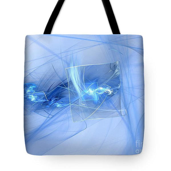 Tote Bag featuring the digital art Shattered by Victoria Harrington