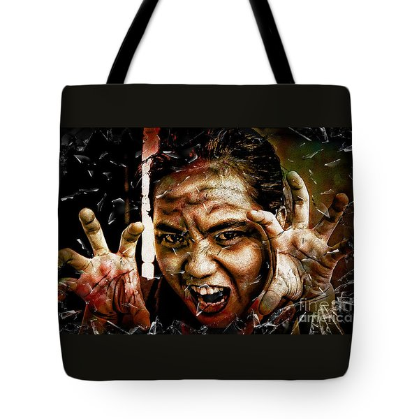 Shattering Horror Tote Bag