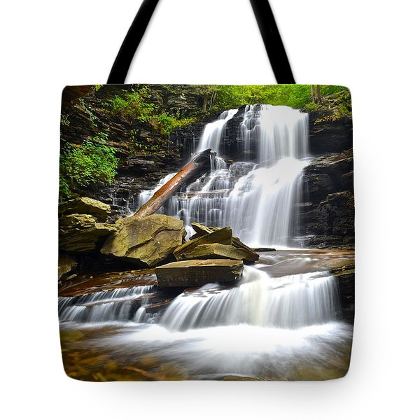 Shawnee Falls Tote Bag by Frozen in Time Fine Art Photography