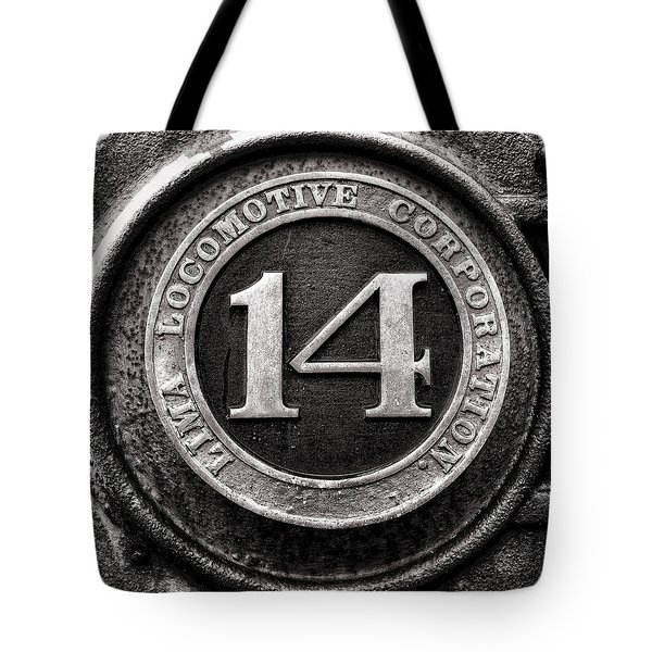 Shay 14 Lima Locomotive Number Plate Tote Bag by Ken Smith