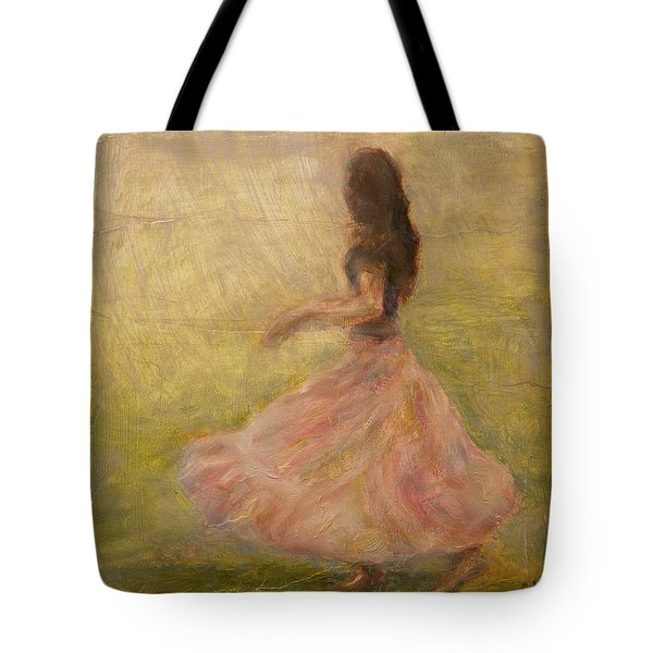 She Dances With The Rain Tote Bag by Quin Sweetman