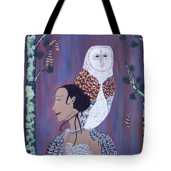 She Flies With The Owls Tote Bag