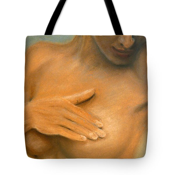Tote Bag featuring the painting She by Jasna Dragun
