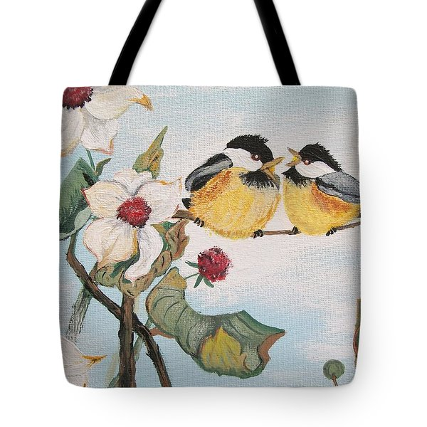Tote Bag featuring the painting She Said by Sharon Duguay