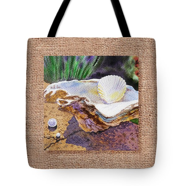 She Sells Sea Shells Decorative Design Tote Bag by Irina Sztukowski
