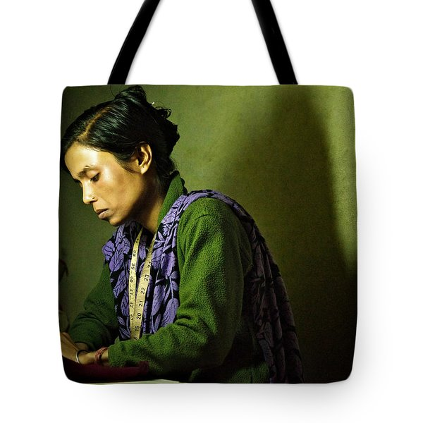 She Sews Into The Night Tote Bag