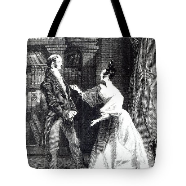 She Then Told Him What Mr Darcy Had Voluntarily Done For Lydia Tote Bag by William Greatbach
