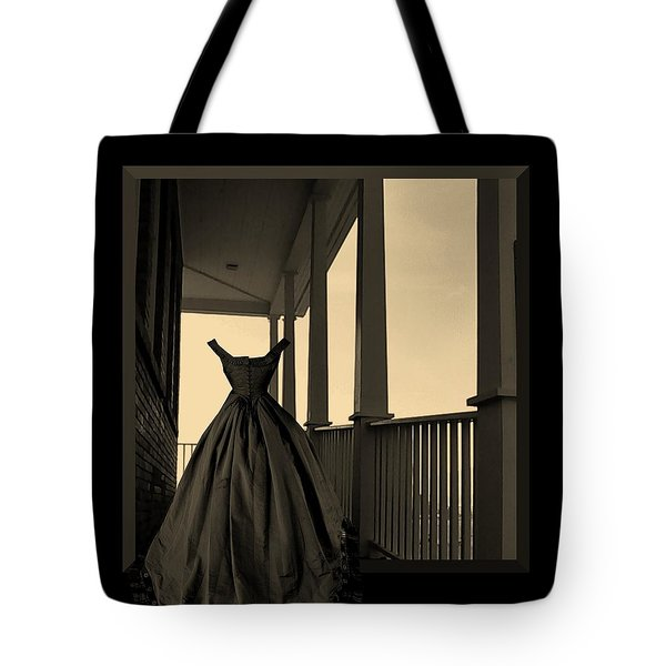 She Walks The Halls Tote Bag by Barbara St Jean