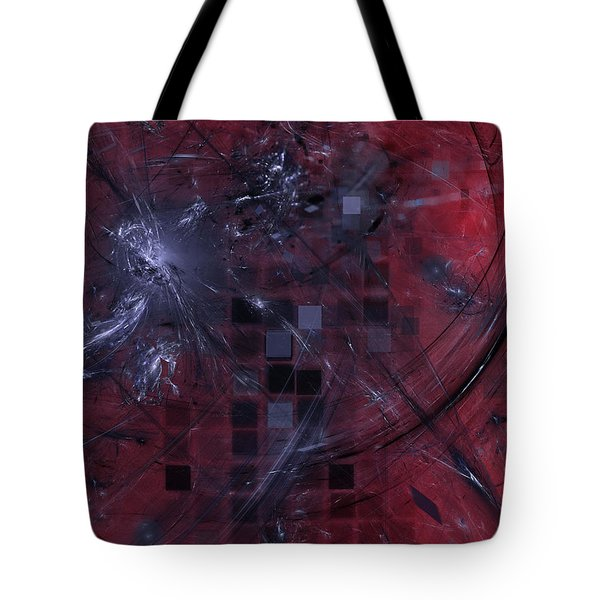 Tote Bag featuring the digital art She Wants To Be Alone by Jeff Iverson